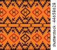 Indian texture in orange tones - stock vector