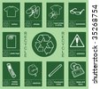Individually layered recycling sign collection 2 - stock photo