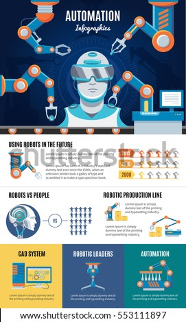Cyber Crime Infographics Flyer Web Site Stock Vector