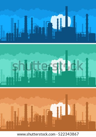 industrial background concept of environmental pollution