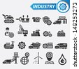 Industrial icons icons,vector - stock vector