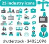 industry icons. please, visit my portfolio to find more similar. - stock vector