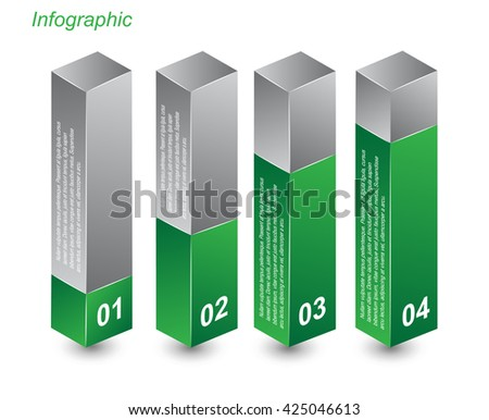 Info-graphic design templates in the form of a 3D box. Idea to display  sc 1 st  Shutterstock & Infographic Design Templates Form 3d Box Stock Vector 345279617 ... Aboutintivar.Com