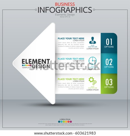 Infographics Business Horizontal Timeline Process Chart Stock