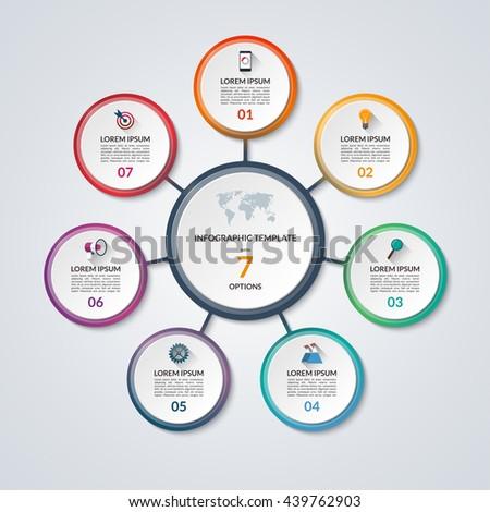 Infographic Circle Diagram Vector Banner 8 Stock Vector 437967361 ...