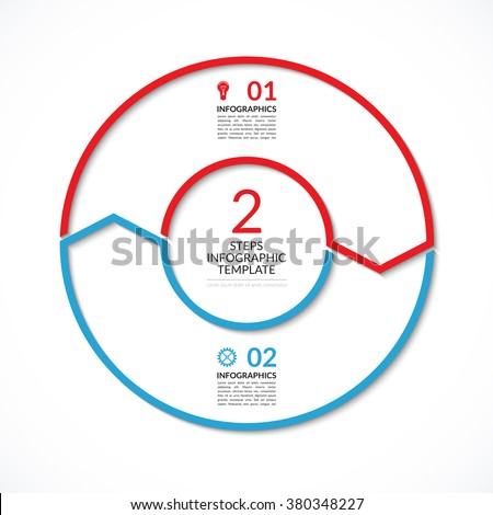 Infographic Circle Diagram Template Business Concept Stock Vector ...