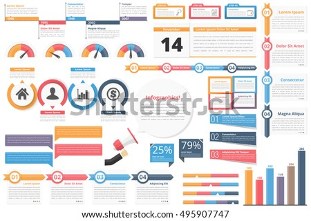 Infographic elements-timeline, process charts, workflow diagrams, steps, options, indocators, bar graph, vector eps10 illustration