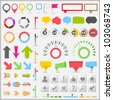 Infographic Elements, vector eps10 illustration - stock photo