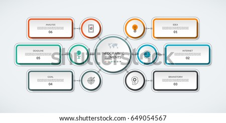 Infographic table 3 options modern minimalistic stock vector infographic flow chart with 6 options modern minimalistic vector template that can be used as ccuart Images