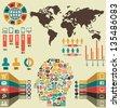 Infographic of social media - vector illustration - stock