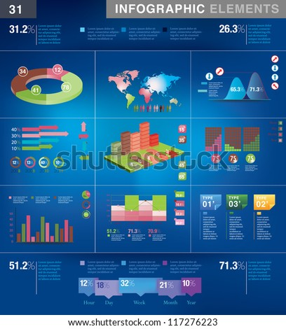 Infographic Presentation Template Graph Pie Chart Stock Vector