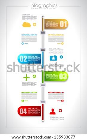 Timeline Infographic Design Templates Set 2 Stock Vector 187169219 ...