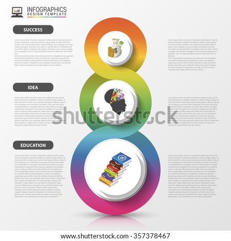Infographics design template. Modern business concept. Vector illustration.