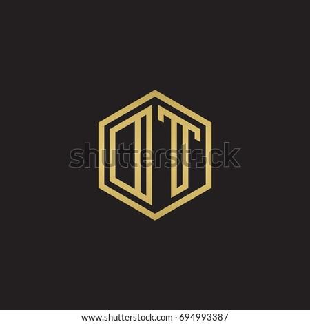 initial letter dt modern linked circle stock vector 444004108 shutterstock. Black Bedroom Furniture Sets. Home Design Ideas