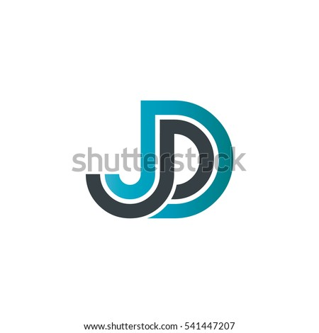 Initial Letter Jd Linked Design Logo Stock Vector 539109478 ...