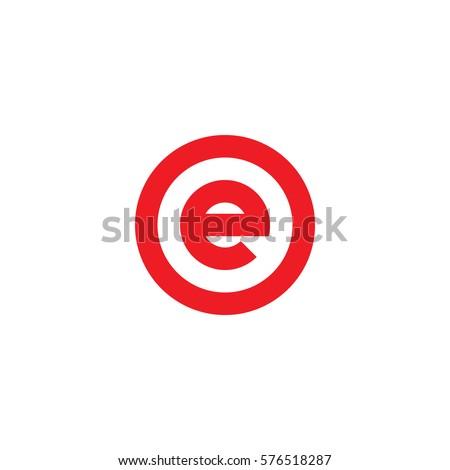 Letter E Logo Stock Ve...E Logo With Circle
