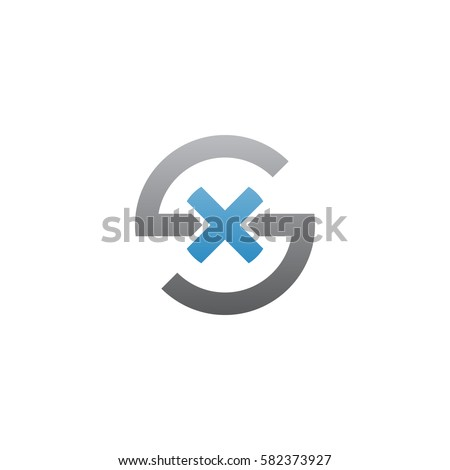 Initial Letter Logo Ex Xe X Stock Vector 568051171 Shutterstock