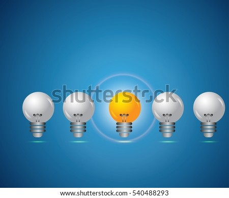 innovation concept design lighted bulbs decoration