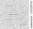 INNOVATION. Word collage. Seamless pattern. - stock photo