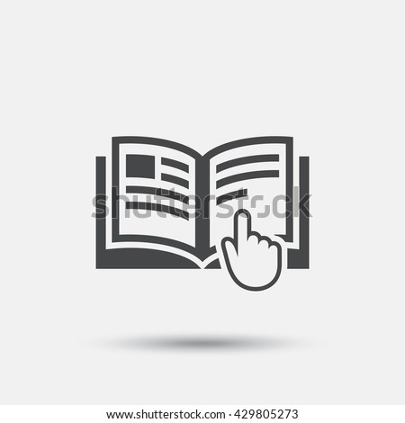 Book Sign Icon Open Book Symbol Stock Vector 173242910 Shutterstock