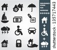 Insurance icon set,vector - stock photo
