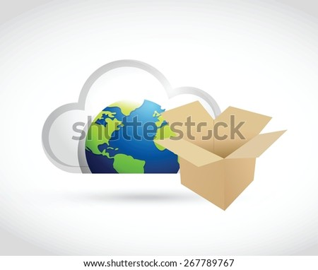 international cloud computing storage concept illustration design over white