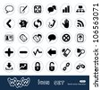 Internet and finance icons set. Hand drawn sketch illustration isolated on white background - stock vector
