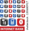 internet bank buttons set, vector - stock vector