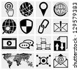 Internet icons set - stock photo