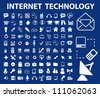 internet technology icons set, vector - stock photo