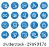 Internet web icons, blue sticker series - stock vector