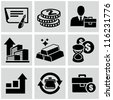 Investment icons - stock vector
