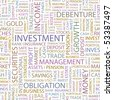 INVESTMENT. Seamless vector pattern with word cloud. - stock photo