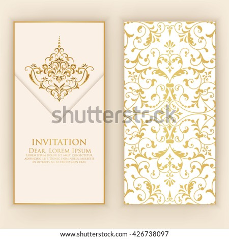 Vector ornamental round lace damask arabesque stock vector for Arabesque style decoration