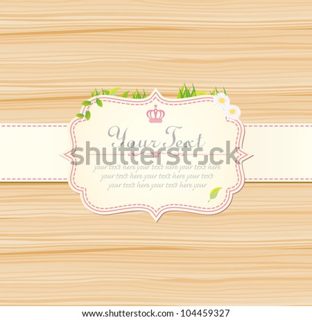 Pink vintage label vector frame stock vector 106110914 shutterstock invitation vintage label vector frame pink stopboris Image collections