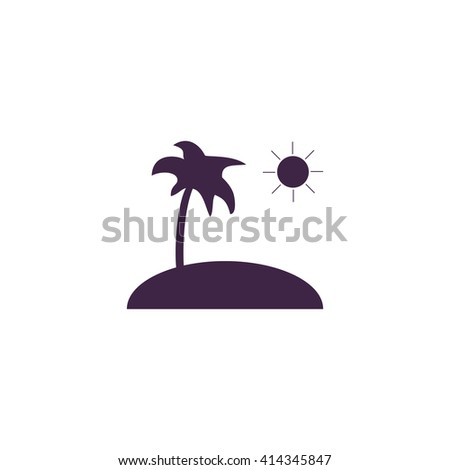 isle Simple flat blue vector icon on white background