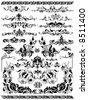 isolate design elements - stock vector