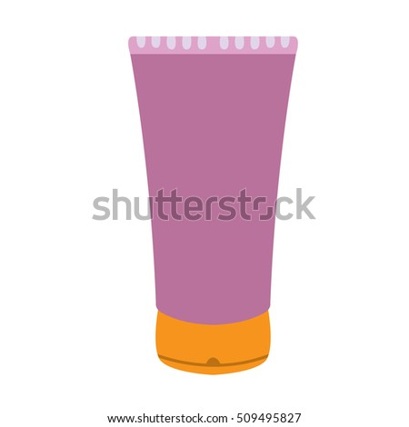 Isolated bottle of cream, Spa vector illustration