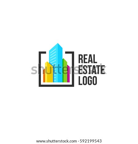 Isolated round shape logo blue color stock vector for Bright illustration agency