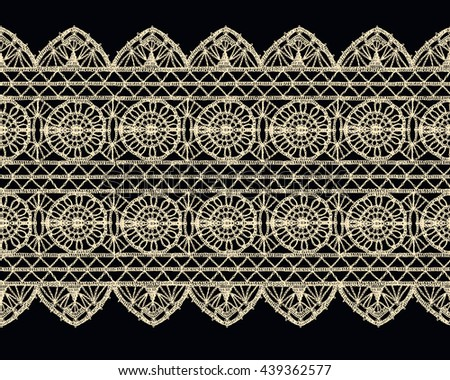Set patchwork knitted new years snowflake stock vector for Border lace glam