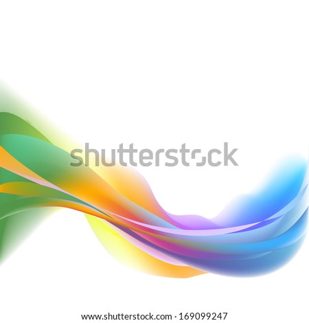 Isolated green white curl blend future red power business horizontal line vector yellow spectrum curve symbol template light graphic clean element card glow technology shape abstract wave ink modern