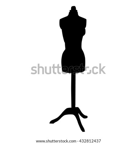 isolated mannequin icon on white background