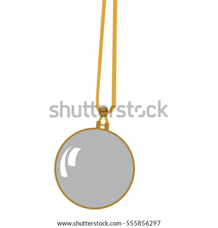 Isolated retro pocket watch on a white background, Vector illustration