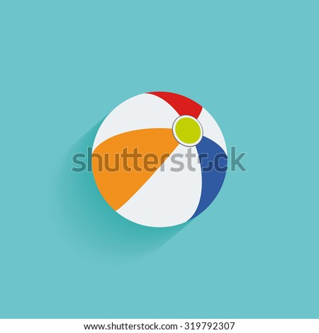 Isolated summer icon on a blue background