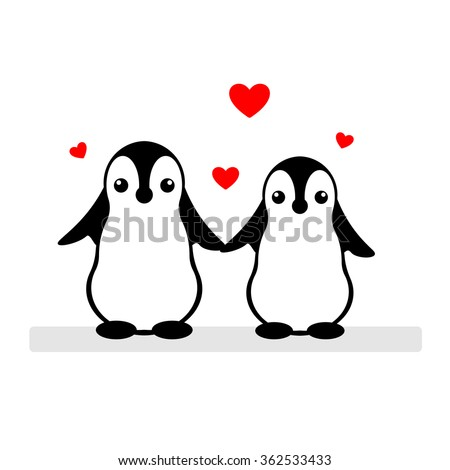 Cute cartoon couples in love black and white