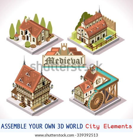 Vector isometric low poly homeimprovement ad stock vector for 3d house building games online