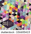 Isometric pattern art / colorful vector suitable for book cover or website or infographics - stock vector