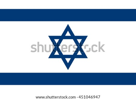 Israel vector flag