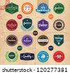 It's a collection of vector vintage badges and stamps. - stock vector