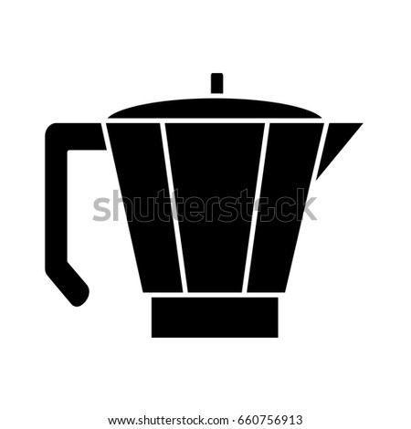 Italian Coffee Maker Vector : Isolated Coffee Kettle Design Stock Vector 531011140 - Shutterstock